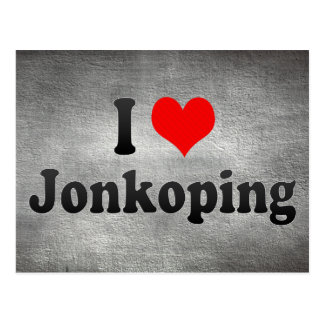 I Love Jonkoping, Sweden Postcard