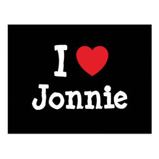 I love Jonnie heart T-Shirt Postcards
