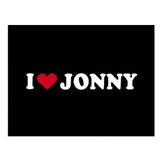 I LOVE JONNY POSTCARD