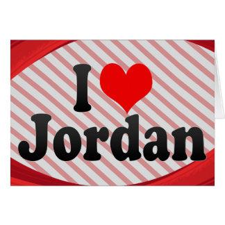 I love Jordan Greeting Card