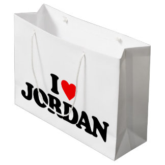 I LOVE JORDAN LARGE GIFT BAG