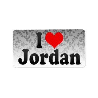 I love Jordan Personalized Address Labels