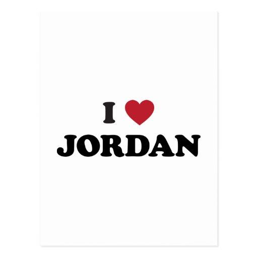 I Love Jordan Postcard