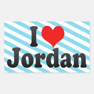 I love Jordan Rectangle Sticker