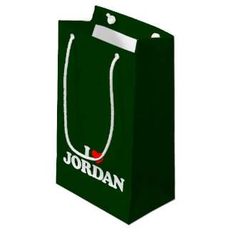 I LOVE JORDAN SMALL GIFT BAG