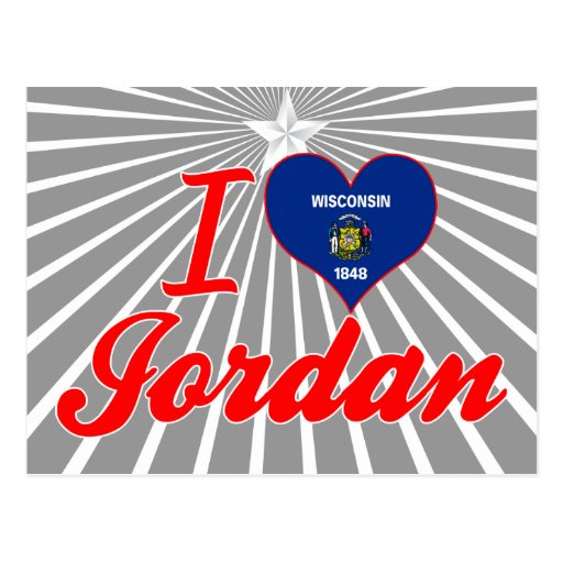 I Love Jordan, Wisconsin Postcard