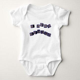 I love Joseph toy blocks in blue Baby Bodysuit
