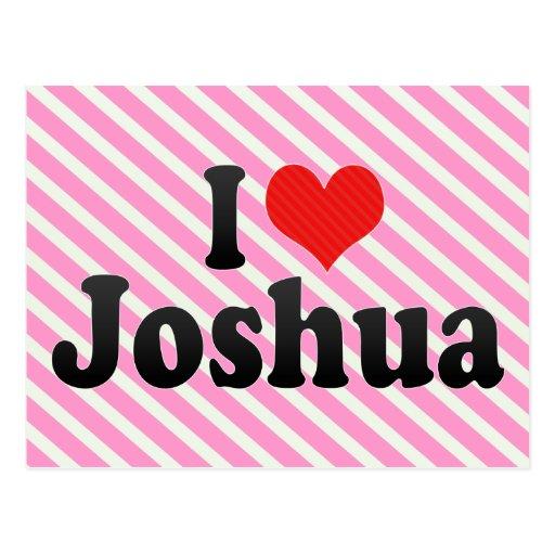 I Love Joshua Postcard