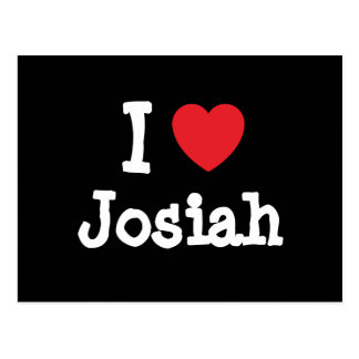 I love Josiah heart custom personalized Post Cards