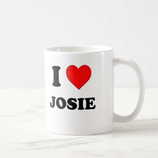 I Love Josie Classic White Coffee Mug