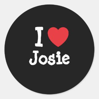 I love Josie heart T-Shirt Stickers