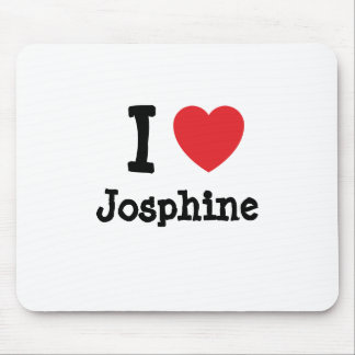 I love Josphine heart T-Shirt Mouse Pad