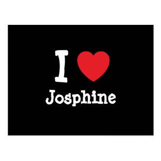 I love Josphine heart T-Shirt Postcard