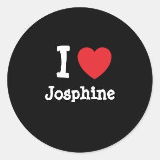 I love Josphine heart T-Shirt Round Sticker