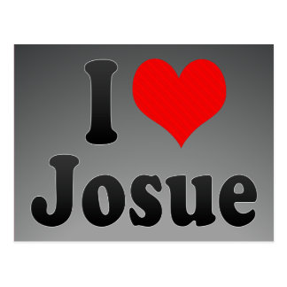 I love Josue Postcard