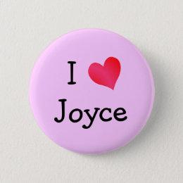 I Love Joyce Button