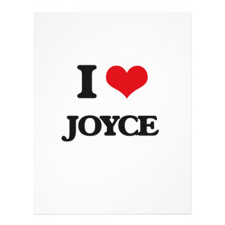 "I Love Joyce 8.5"" X 11"" Flyer"