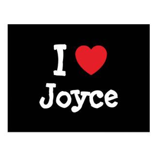 I love Joyce heart T-Shirt Postcard