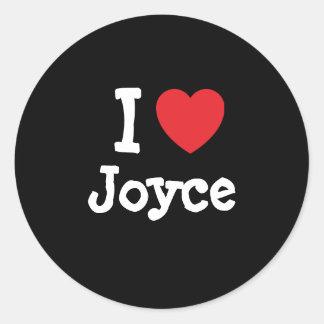 I love Joyce heart T-Shirt Sticker
