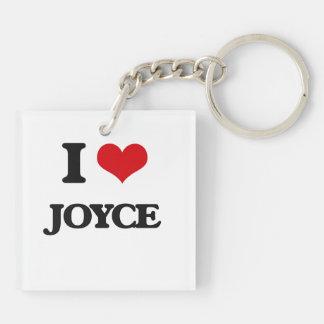 I Love Joyce Double-Sided Square Acrylic Keychain