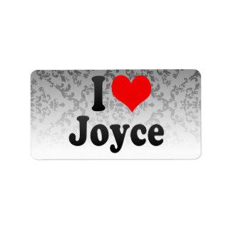 I love Joyce Personalized Address Labels