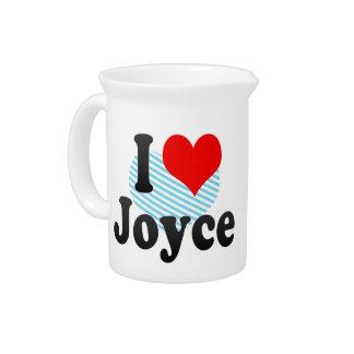 I love Joyce Drink Pitchers