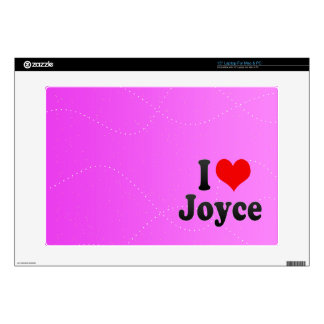 "I love Joyce 15"" Laptop Skin"