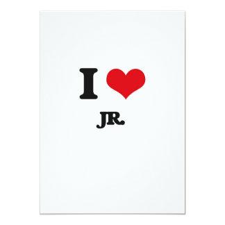 I Love Jr. 5x7 Paper Invitation Card