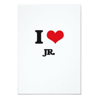 I Love Jr. 3.5x5 Paper Invitation Card