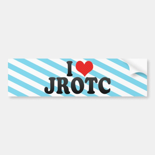 I Love JROTC Bumper Sticker
