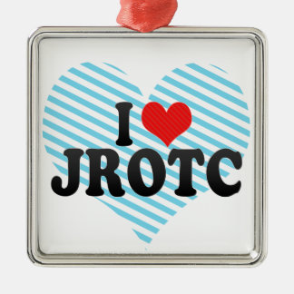 I Love JROTC Square Metal Christmas Ornament