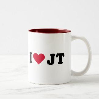 I LOVE JT COFFEE MUGS