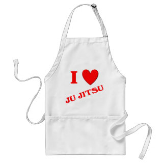 I Love Ju Jitsu Adult Apron