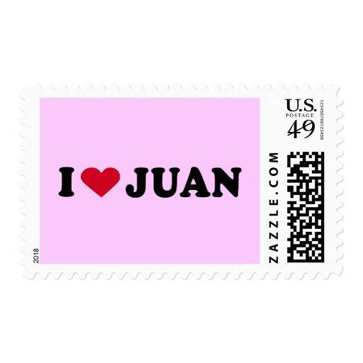 I LOVE JUAN POSTAGE