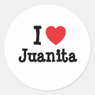 I love Juanita heart T-Shirt Classic Round Sticker