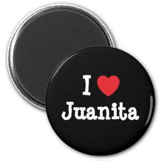 I love Juanita heart T-Shirt Fridge Magnets