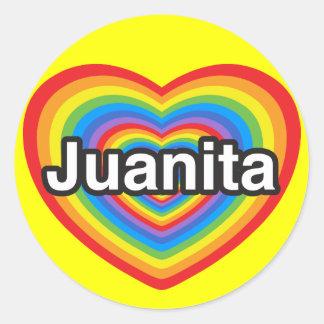 I love Juanita. I love you Juanita. Heart Classic Round Sticker