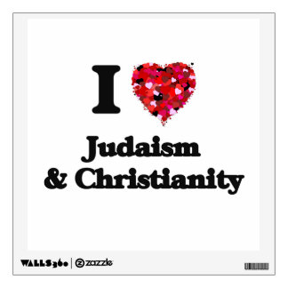 I Love Judaism & Christianity Wall Decals