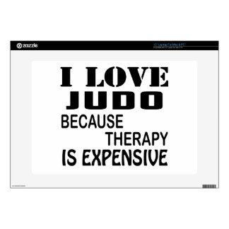 I Love Judo Because Therapy Is Expensive Laptop Decals