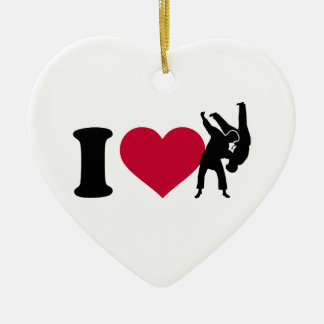 I love Judo Ceramic Ornament