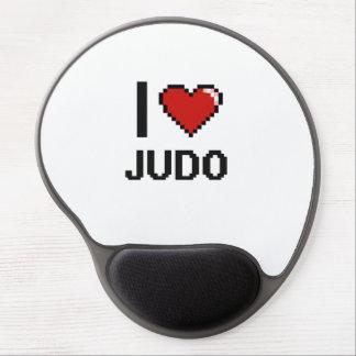 I Love Judo Digital Retro Design Gel Mouse Pad