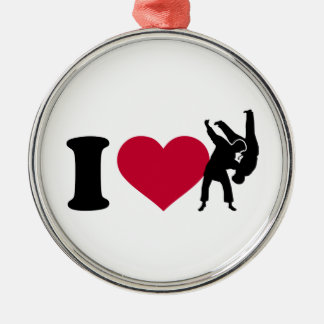 I love Judo Metal Ornament