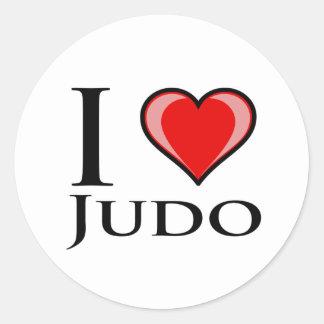 I Love Judo Classic Round Sticker