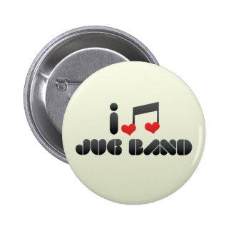 I Love Jug Band Pinback Button