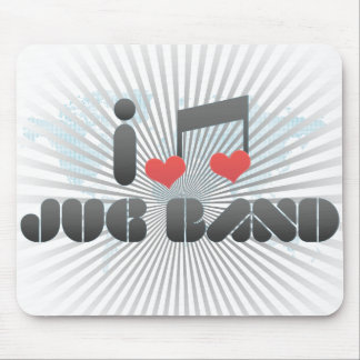 I Love Jug Band Mouse Pad