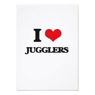 I Love Jugglers 5x7 Paper Invitation Card