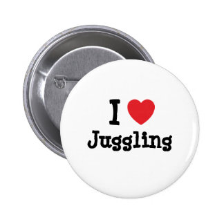 I love Juggling heart custom personalized 2 Inch Round Button