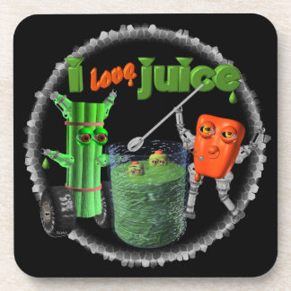 I Love Juice celery & pepper template 100+ items Drink Coaster