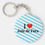I Love Juiz de Fora, el Brasil Llavero Redondo Tipo Pin