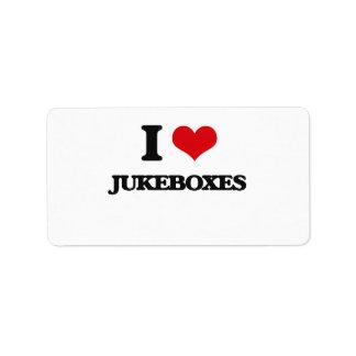 I Love Jukeboxes Address Label